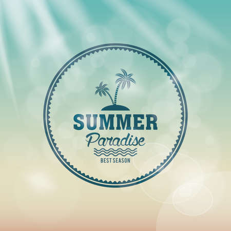 graphic icon: Colored background with a label for summer vacations