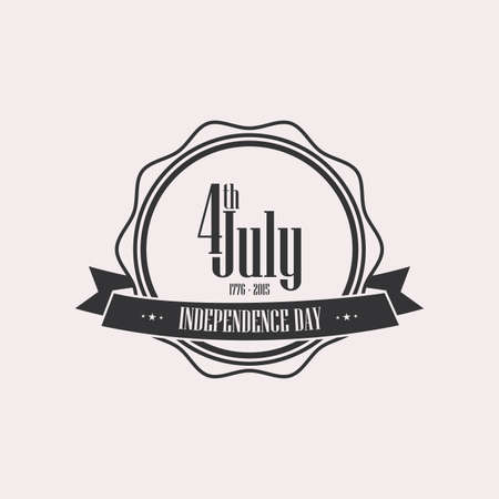 forth: Isolated label with text for independence day Illustration