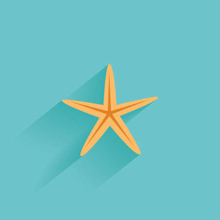 star: Isolated summer icon on a blue background