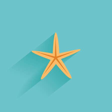 sterne: Isoliert Sommer-Symbol auf einem blauen Hintergrund