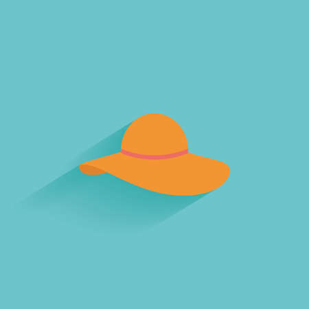 web: Isolated summer icon on a blue background