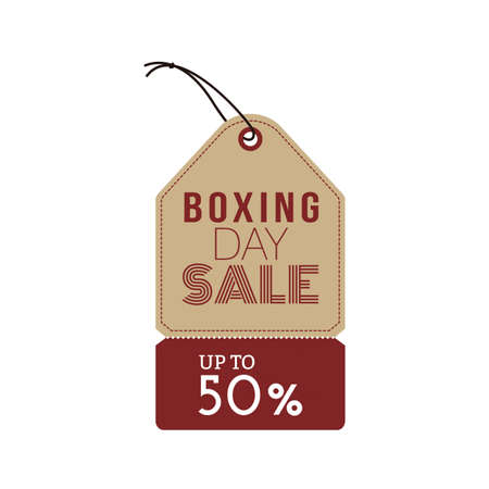 boxing day special: Isolated sale label with text on a white background Illustration