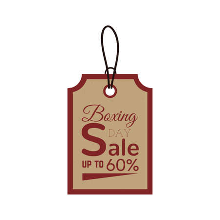 boxing day sale: Isolated sale label with text on a white background Illustration