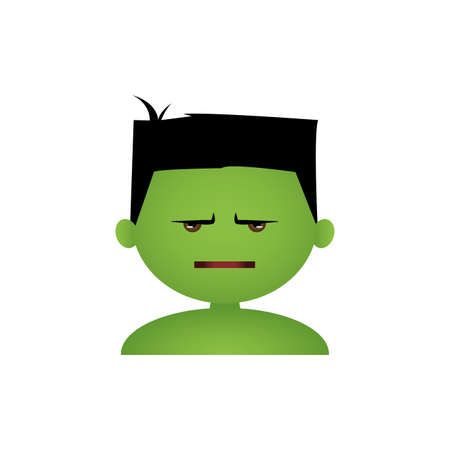 anger kid: Isolated boy with a halloween costume and a facial expression Illustration