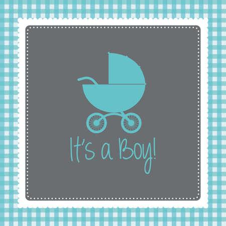 nacimiento bebe: Fondo de color con el texto y los iconos para baby showers Vectores