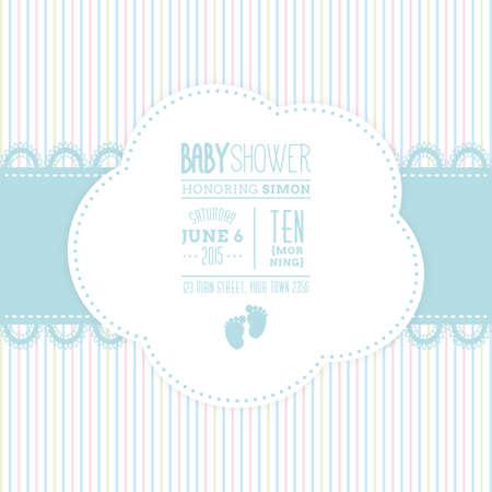 Fond coloré avec du texte et des icônes pour les douches de bébé Banque d'images - 47693592