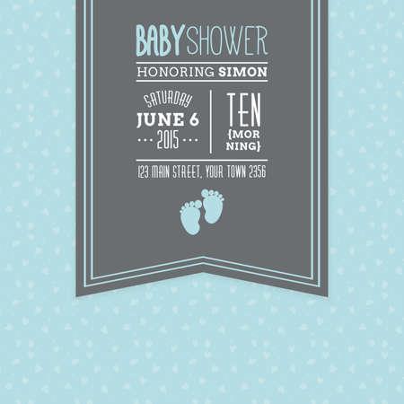 Gekleurde achtergrond met tekst en pictogrammen voor babyborrels