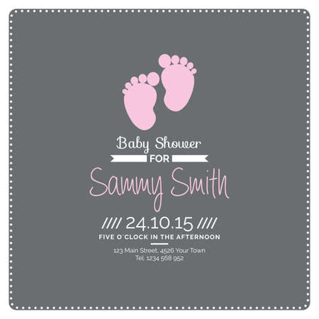 baby boy announcement: Set of colored backgrounds with text and icons for baby showers Illustration