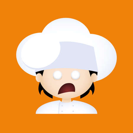 facial expression: Isolated boy with chef clothes and a facial expression Illustration