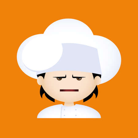anger kid: Isolated boy with chef clothes and a facial expression Illustration