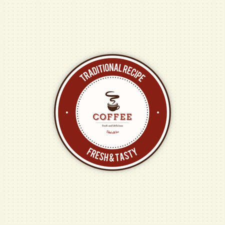 roaster: Isolated coffee label with text on a white background