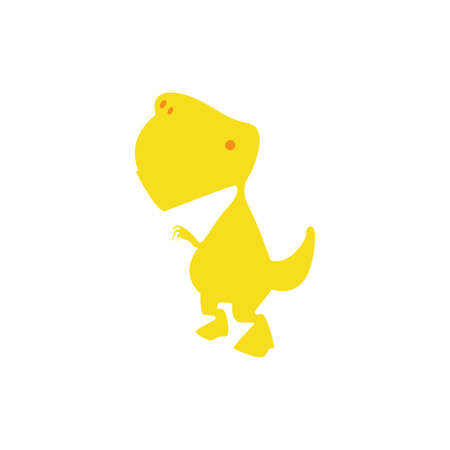 gigantic: Isolated cute dinosaur on a white background