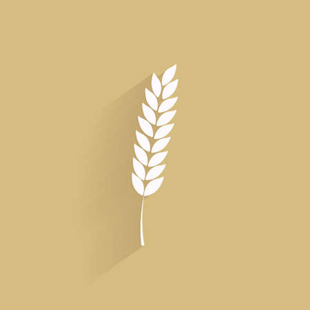 crops: Isolated wheat silhouette on a brown background
