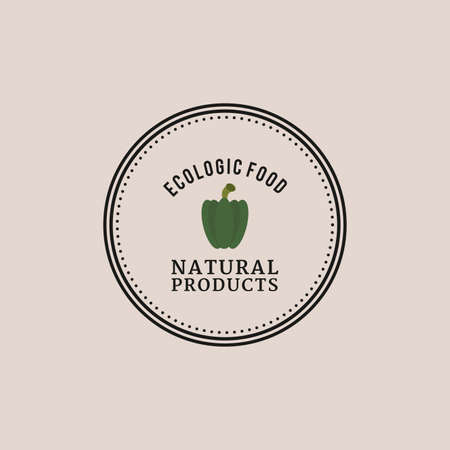apple isolated: abstract organic food label on a light background