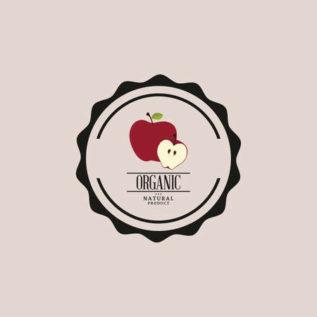 abstract organic food label on a light background Vector Illustration