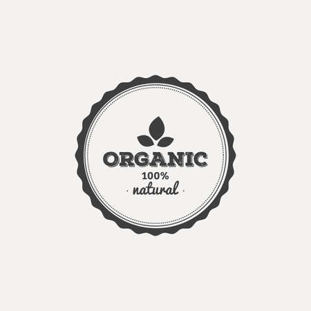 abstract food: abstract organic food label on a white background
