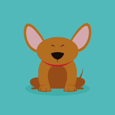 abstract cute dog on a special background Illustration