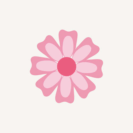 beauty icon: Abstract Cute flower on a white background