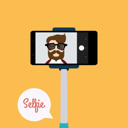 selfy: abstract selfie background with some special objects