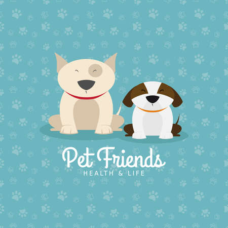 Abstract pet shop background with some special objects Illustration