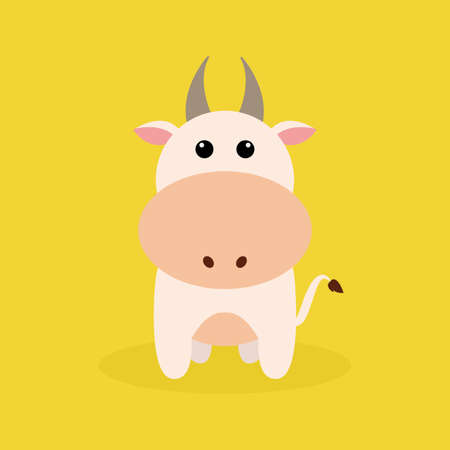 cute cow: Abstract cute cow on a special background
