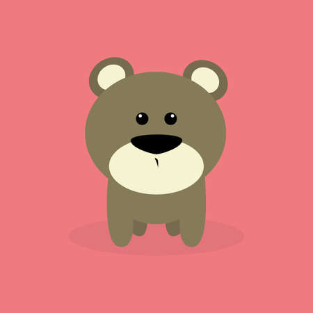 cute bear: Abstract cute bear on a special background