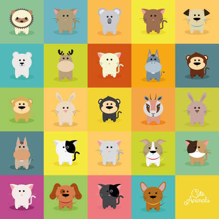Abstract cute animals on a special background Zdjęcie Seryjne - 50240557