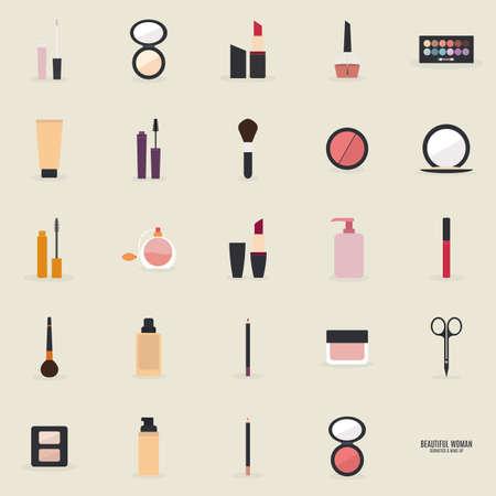 Maquillaje Resumen objetos sobre un fondo claro