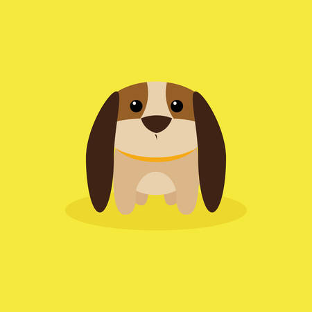 jack rabbit: abstract cute dog on a special background Illustration