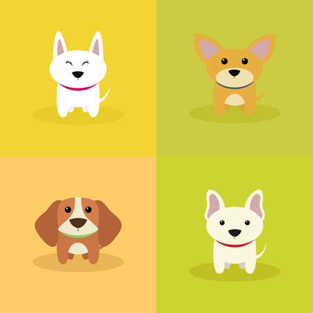 jack rabbit: abstract cute dogs on a special background Illustration