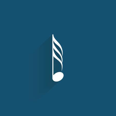 iconos de música: s�mbolo de la m�sica abstracta sobre un fondo azul Vectores