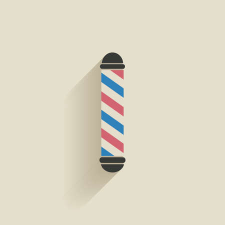 male grooming: abstract barber object on a light background Illustration