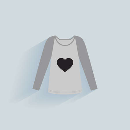 t shirt blouse: abstract clothes object on a light blue background Illustration