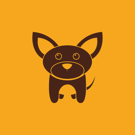 jack rabbit: abstract cute dog on a yellow background Illustration
