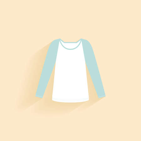 t shirt blouse: abstract clothes object on a light background Illustration