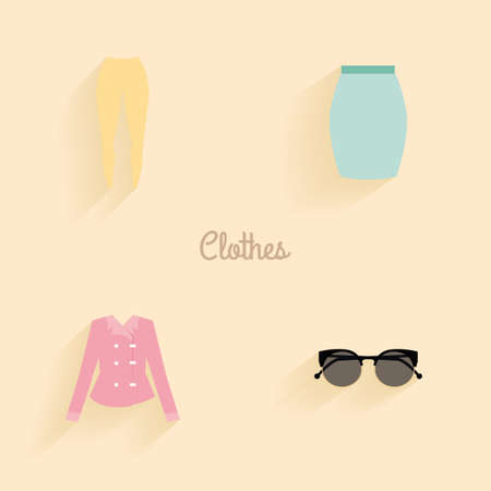 t shirt blouse: abstract clothes objects on a light background