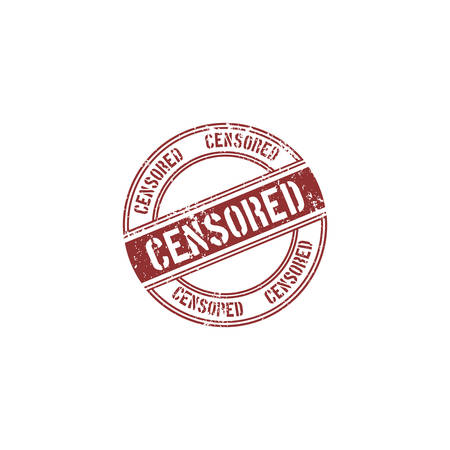 censored: abstract censored stamp object on a white background
