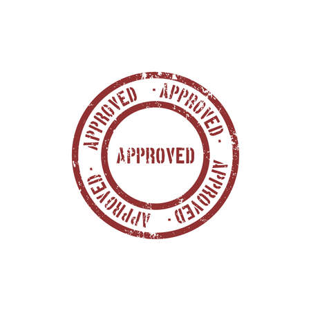 approved stamp: abstract approved stamp object on a white background
