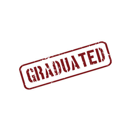graduated: abstract graduated stamp object on a white background Illustration
