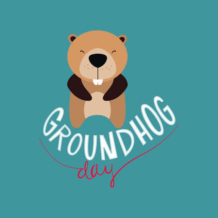 woodchuck: abstract groundhog day background
