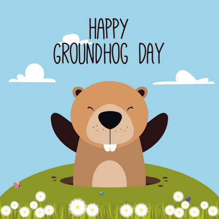 burrow: abstract groundhog day background