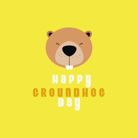 forecaster: abstract groundhog day background with some special objects