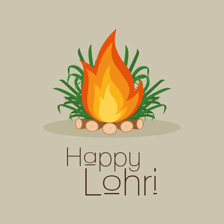 sikhism: abstract happy lohri background with some special objects