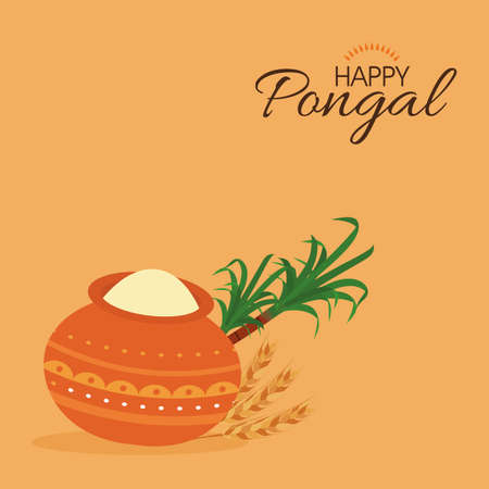pongal: abstract happy pongal background with some special objects Illustration
