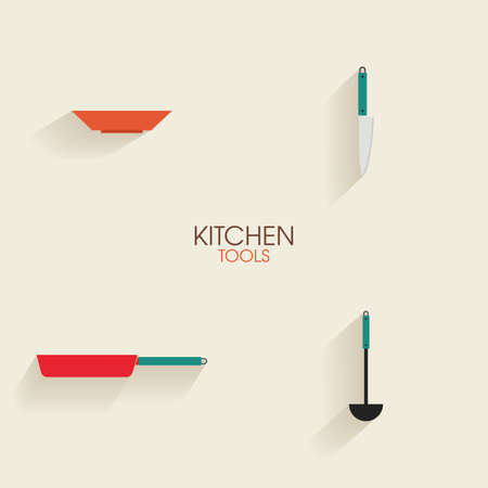 expensive food: Abstract kitchen tools on a white background Illustration