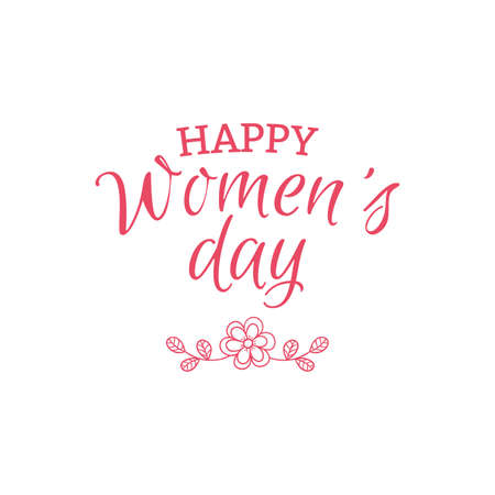 wallpaper International Women s Day: abstract happy women day label on a white background