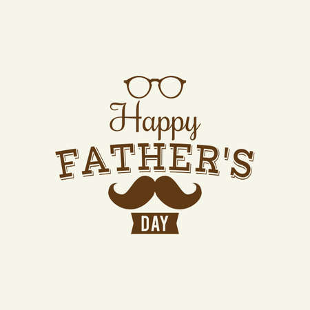 dad son: Abstract Fathers Day background with some special objects Illustration