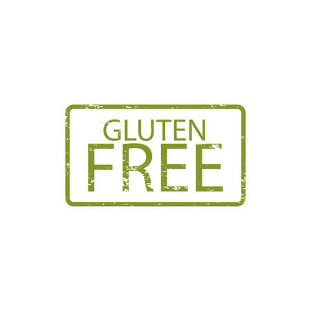 celiac: abstract gluten free label on a white background