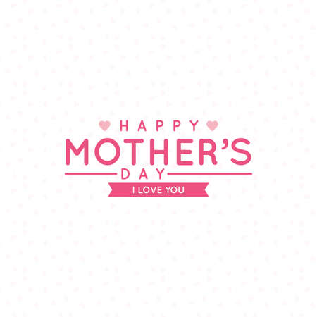 mothers day background: Abstract mothers day background with some special objects Illustration