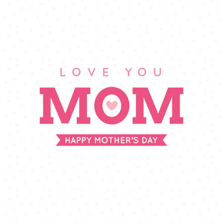 pink banner: Abstract mothers day background with some special objects Illustration